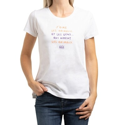 shirt 'J'aime les animaux' (women)