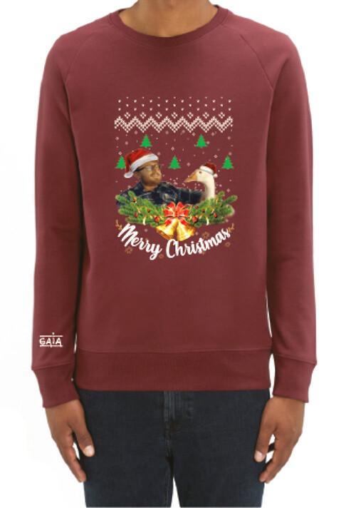 Christmas sweater 'Pas besoin de gaver' (FR)