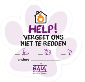 pet sticker 'HELP!' (NL)
