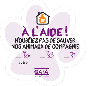 pet sticker 'À L'AIDE !' (FR)