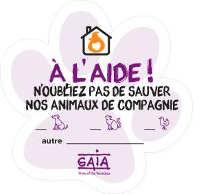pet sticker 'À L'AIDE !' (FR)