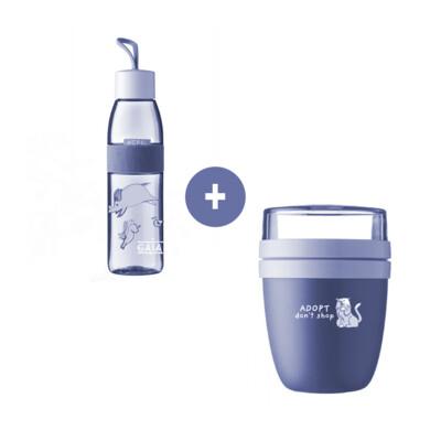 set drink bottle + lunch pot