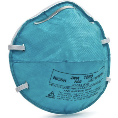 3M™Health Care Particulate Respirator and Surgical Mask 1860, N95 120 EA/Case