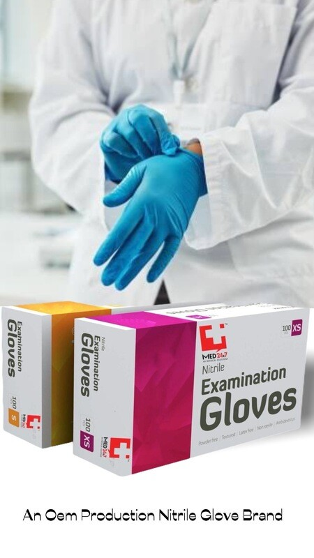 Hand Protection Powder Free Nitrile Gloves