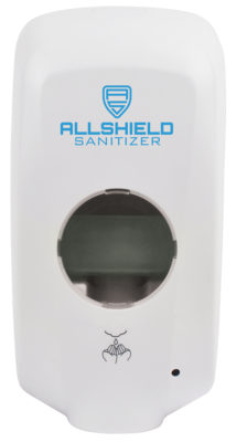 Allshield Touchless Sanitizer Dispenser, Wall Mounted, No Drip Tray