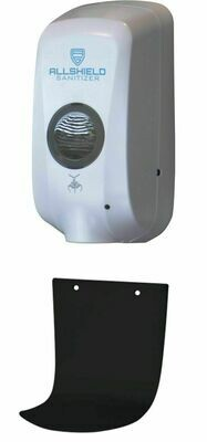 Allshield Touchless Sanitizer Dispenser, Wall Mounted with Drip Tray