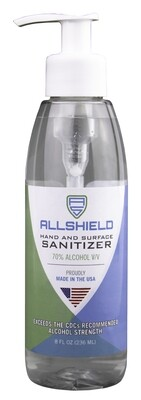 8 oz Sanitizer Gel Pump - By The Case