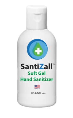SantiZall Gel Hand Sanitizer, 2 oz - By The Case