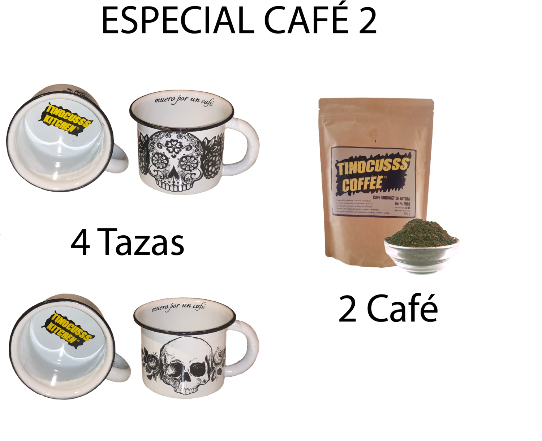 Especial Café 2 ( 2 Café 500g + 4 Tazas Peltre ) + Envío 50 %