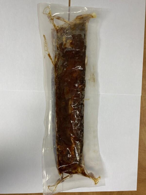 Côte Levée de Dos Porc. (cuite) sauce BBQ.Olymel