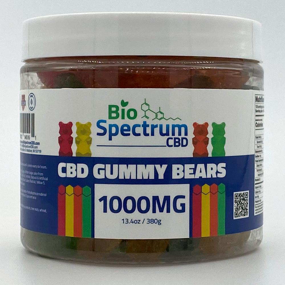 CDB Gummy Bears from BioSpectrum 1000mg