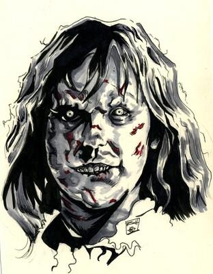 Inktober Illustration: The Exorcist, Regan