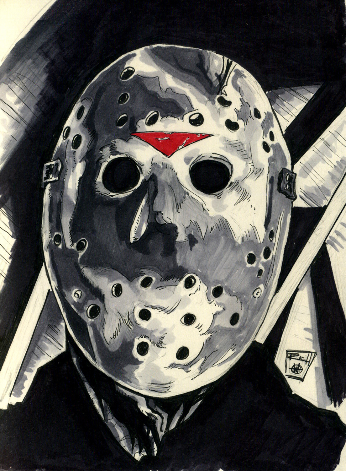Inktober Illustration: Jason Lives!