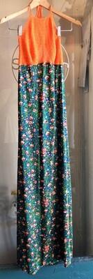 Vintage Hand Crochet Long Dress / 1970's