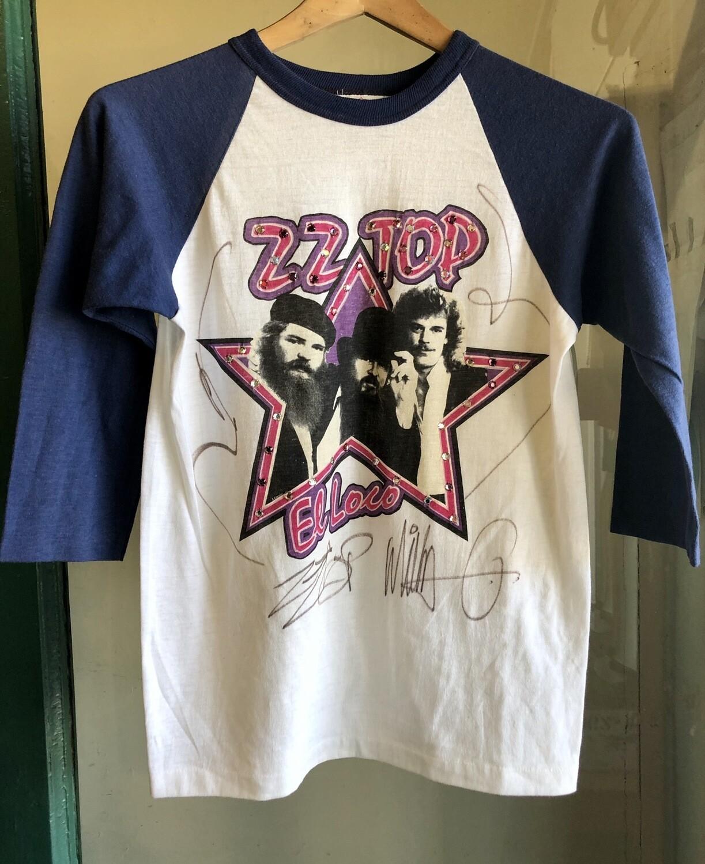 Vintage ZZ Top Concert T-shirt / Fandango Tour 1982 , Signed By Billy Gibbon