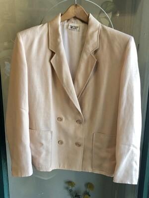 Vintage Courreges Cream Jacket / 1980s