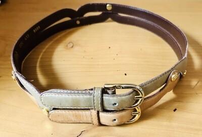 Vintage Gucci Double Buckle Belt / 1970s