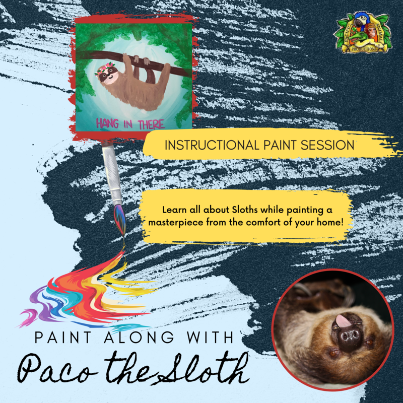 Paint Along with Paco the Sloth - Friday, August 14th at 6:00 PM PST