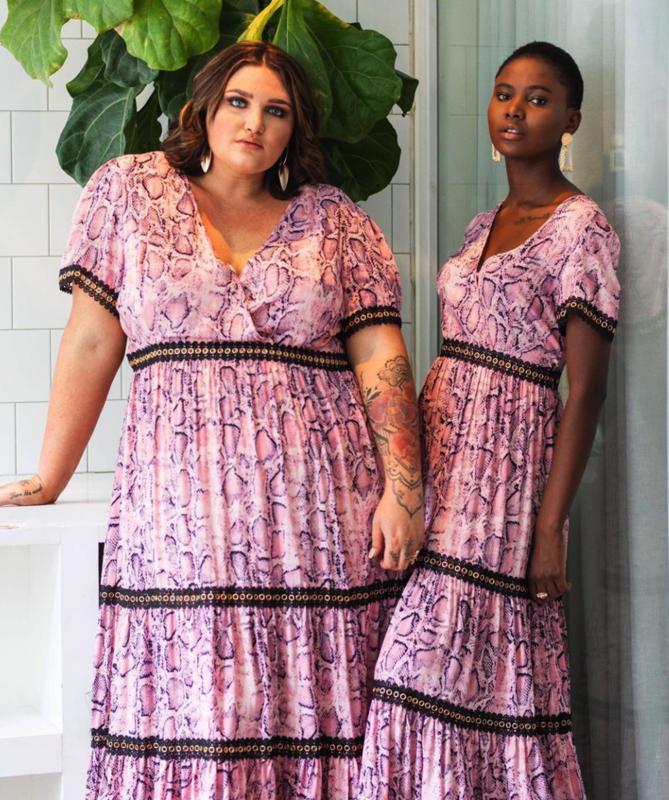 Monica the Label Venice Maxi Dress - Pink