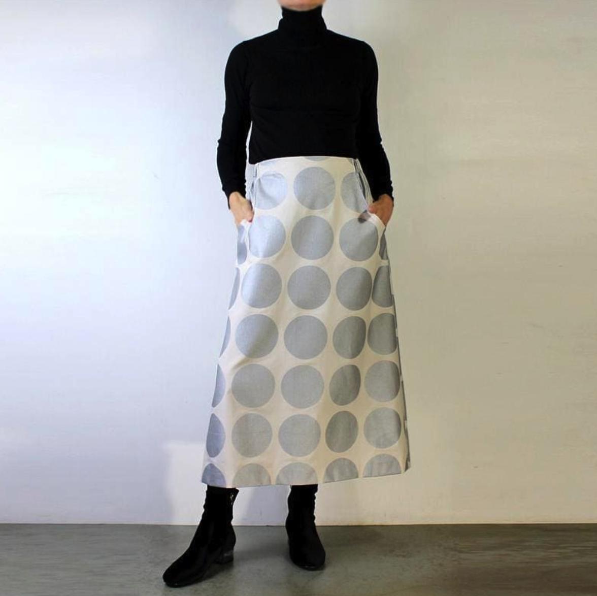 Mijentto Metallic Silver Dot Skirt