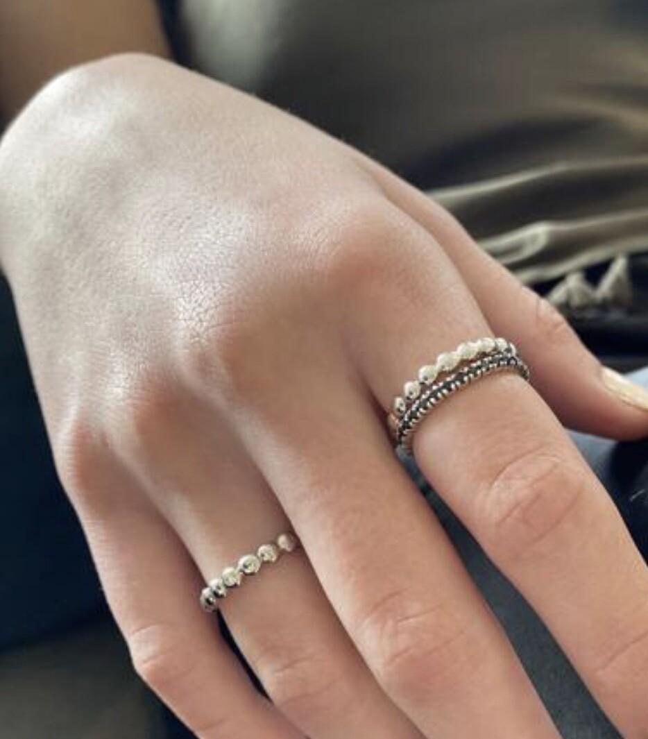 Elverd Designspebble bands silver