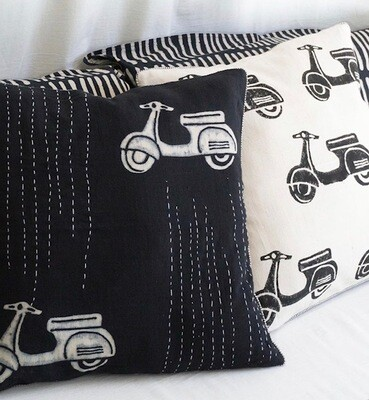 Summer Boat Linen Cushion Cover only