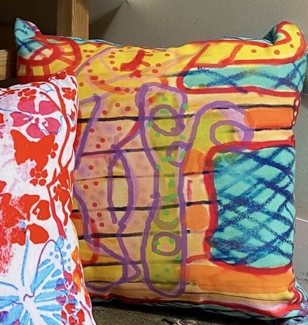 Katapillar Design Throw Pillow