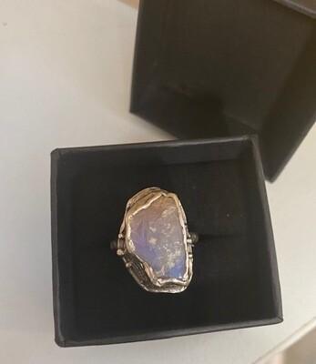 Fae folk JewelleryWhitecliffs Crystal Opal Ring L