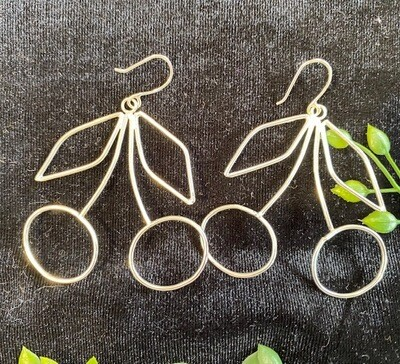 Alice's Earth Cherry Sterling Silver Statement Earrings