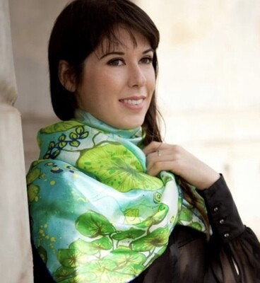 Daughters of Neverland	Waterlilies Silk Twill Scarf