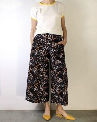 Mijentto Wildflower cropped wide leg pants