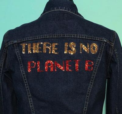 No Cream the Label No Planet B Denim Jacket Size 10