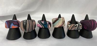 Erika HarderPurple Mix Polymer Clay Rings