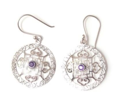 Long Silver ThreadMandell earrings