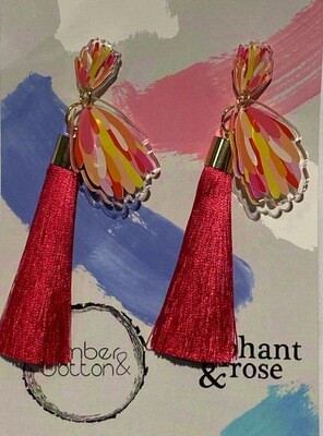 Timber and Cotton	 tassels earrings