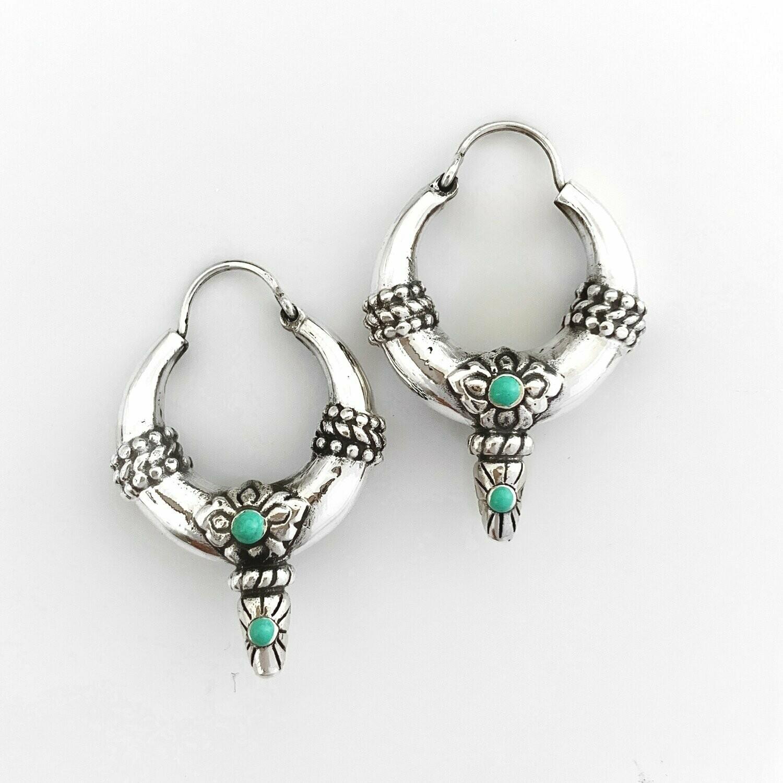 Stash Jewellery La Boheme Earrings Sterling Silver & Turquoise