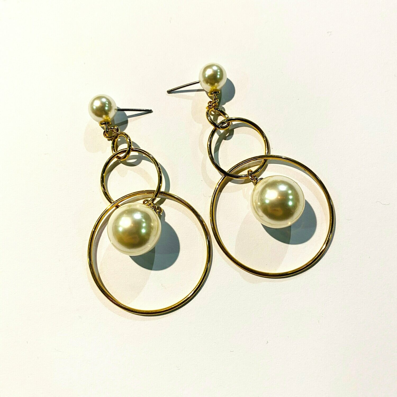 Trendy Creature Gold Earrings