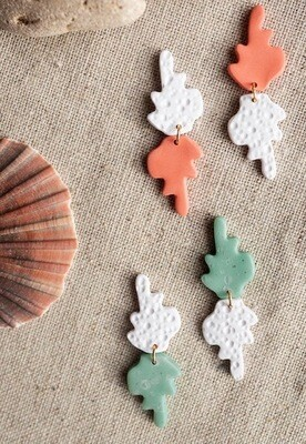 Nature's Collective Jewellery Coral SHAPE SMALL Earrings