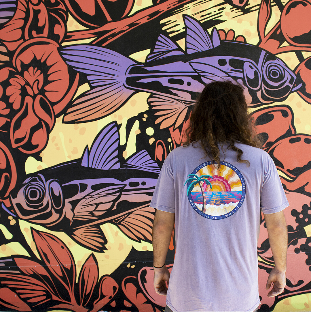 COSMIC SEED MENS SUNSET PARADISE TEE