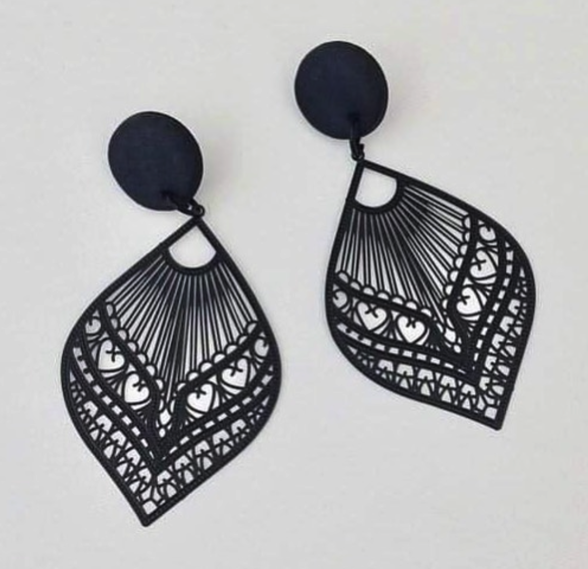Love Designs by George Black Statement Earrings