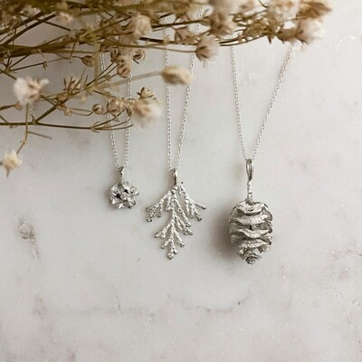Seeds of Silver Necklaces