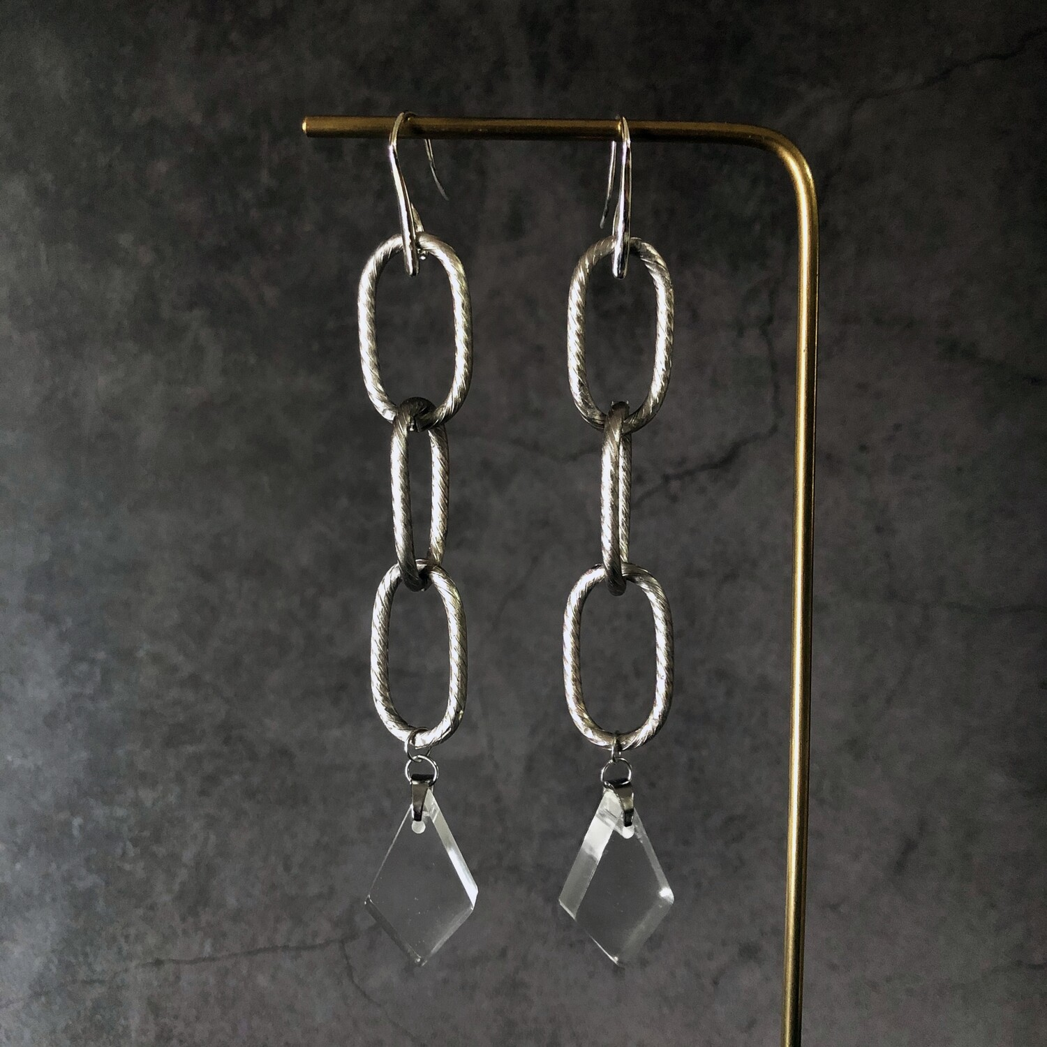 ARC & ETHER	Chunky Chain Geo Earrings