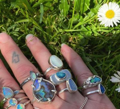 Blackbird & Bones Jewellery Opal Rings