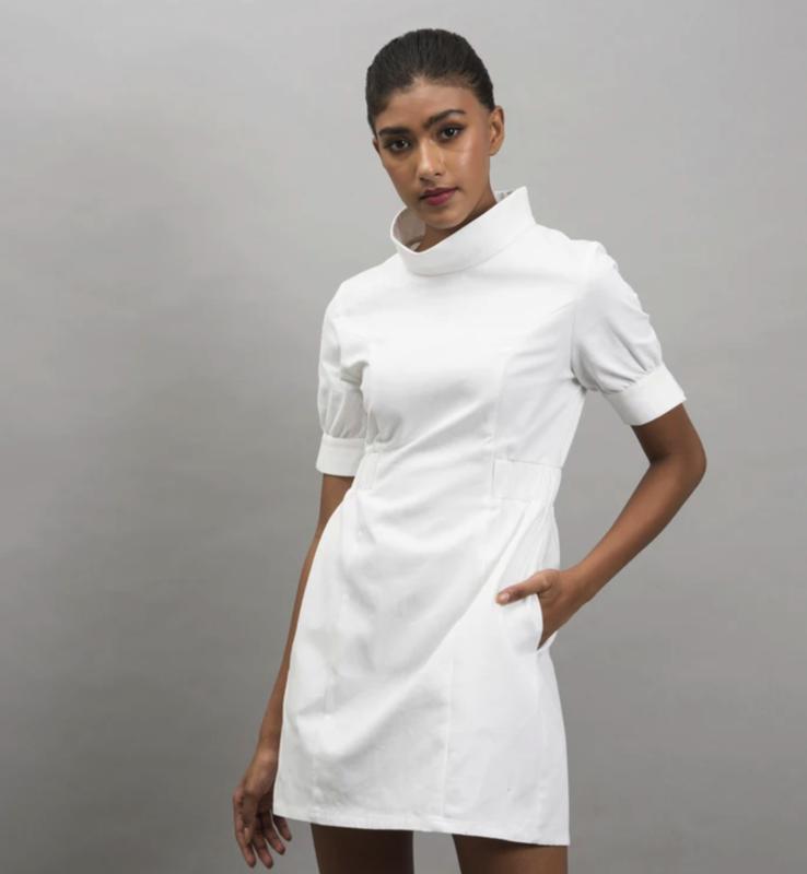 Zavi Midtown Dress White