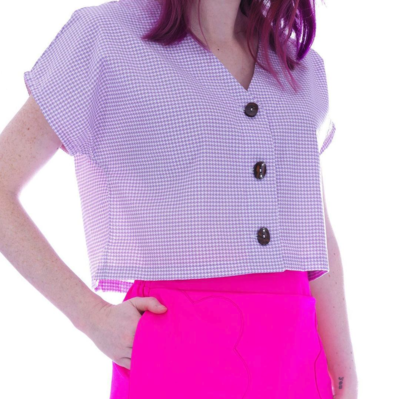VANDENBERG FASHION LILAC ALEXIS TOP S