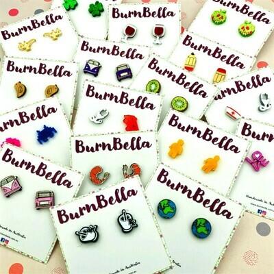 Burnbella Stud Earrings