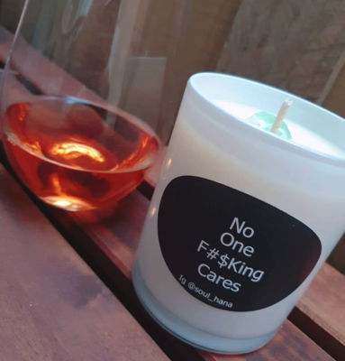 Soul Hana Candles No One Cares in Vanilla