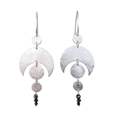 Emily Eliza Jewellery CELESTIAL EARRINGS WITH PYRITE