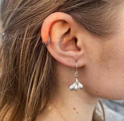 Seeds of Silver Jewellery MISMATCH EUCALYPTUS LARGIFLORENS EARRINGS