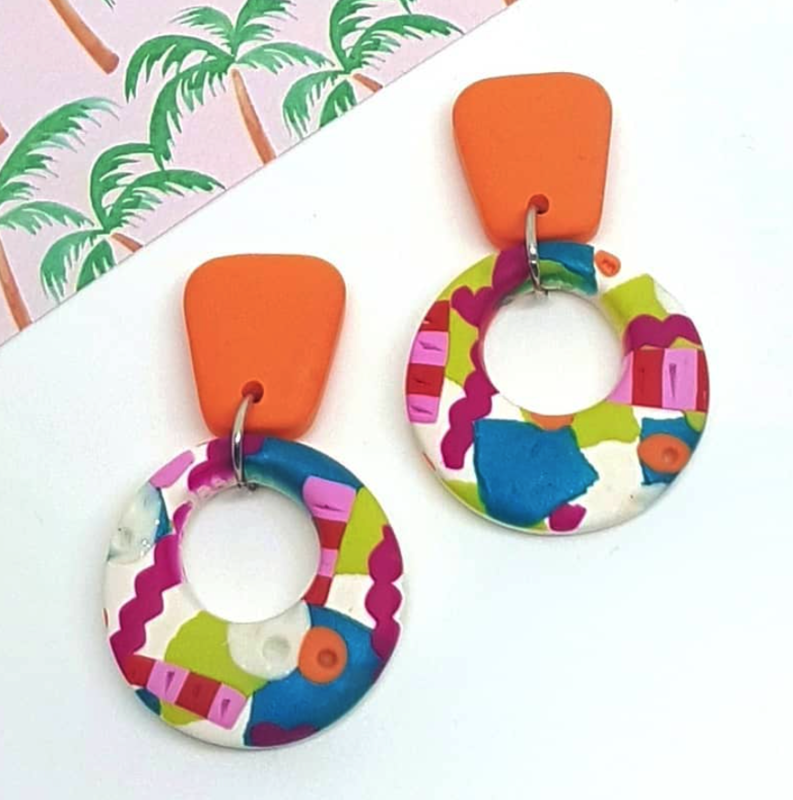 Lyla & Co SNAKES AND LADDERS ROUND DANGLES